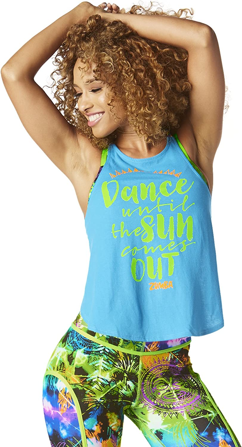 Zumba Women's Sexy Open Back Breathable Workout Tank Top