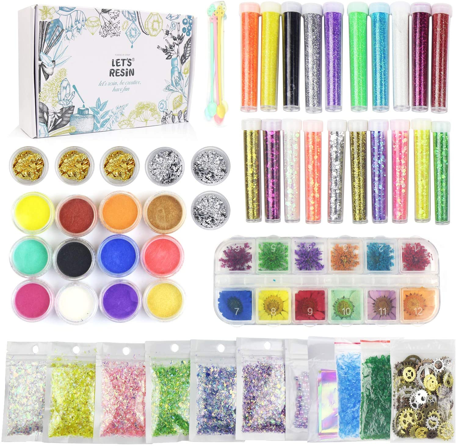 LET'S RESIN Resin Jewelry Making Supplies Kit,50 Pack Art ...