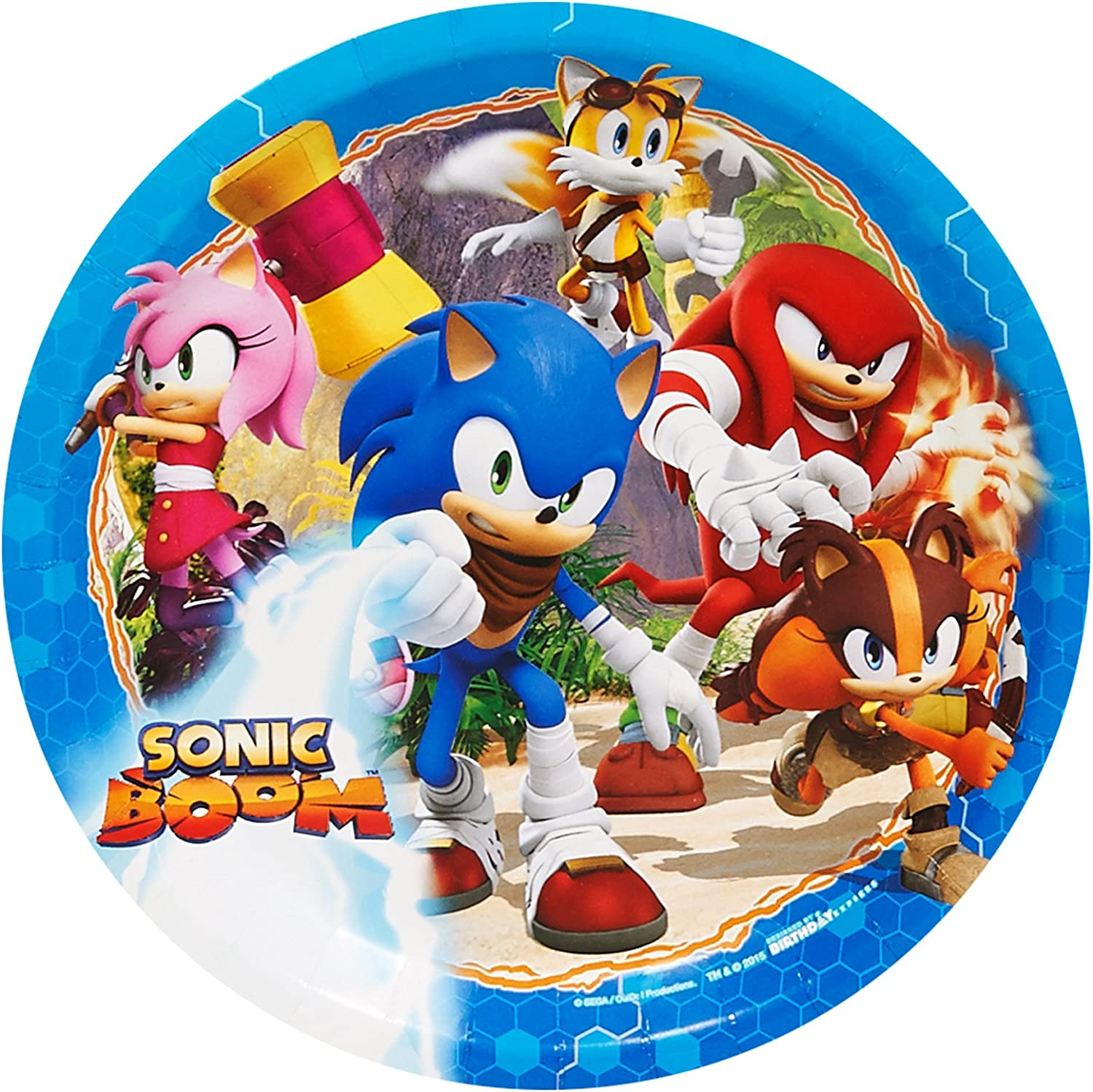 Sonic The Hedgehog Birthday Party Supplies 32 Pack Dessert Plates