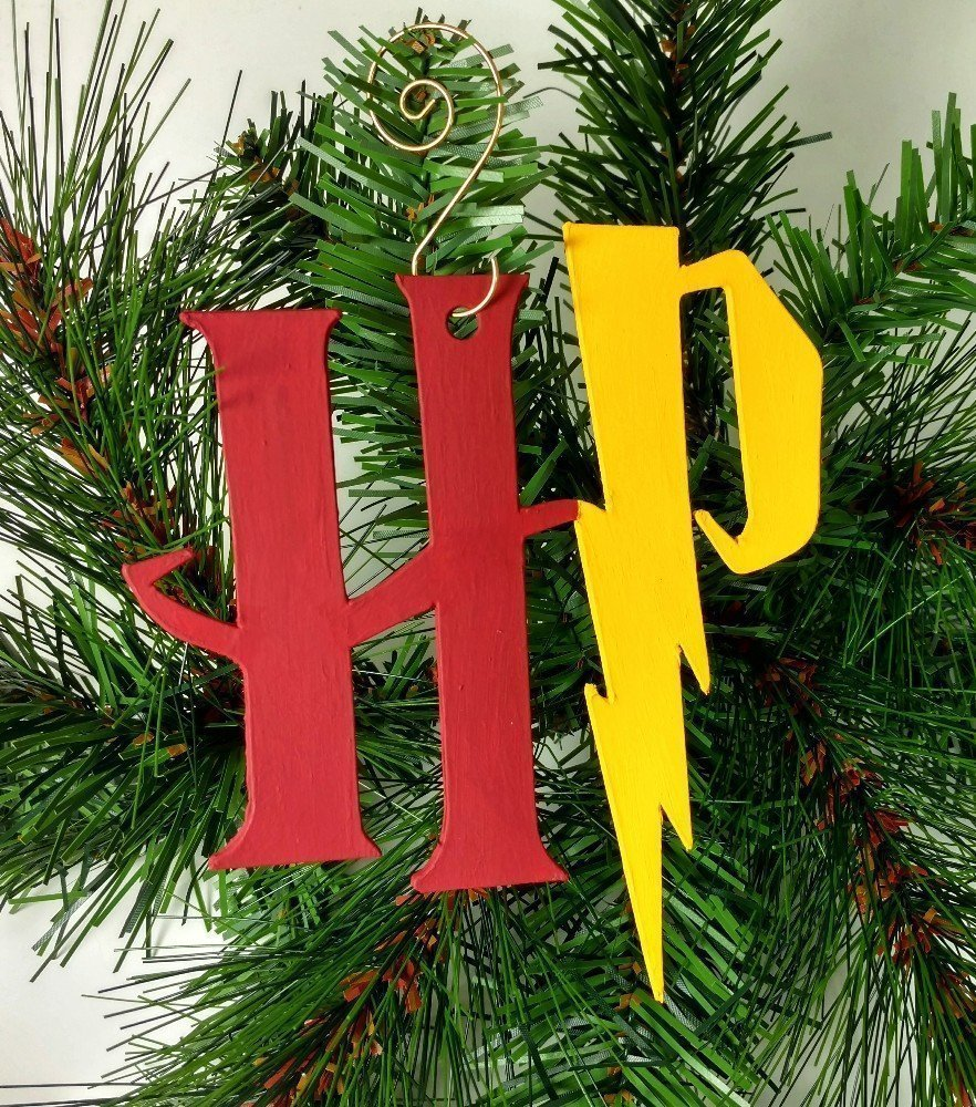 Harry Potter Ornament | Gryffindor | Lightning Bolt | Hogwarts | Geeky | Nerdy Gifts | Rear View Mirror | Hermione | Geek Gift | Nerd Gift