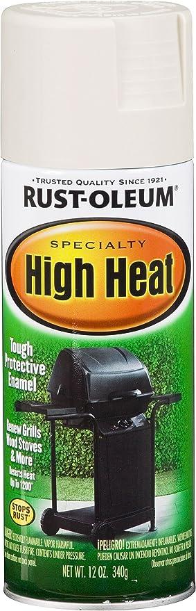 Rust Oleum 7751830 High Heat Enamel Spray 12 Oz White