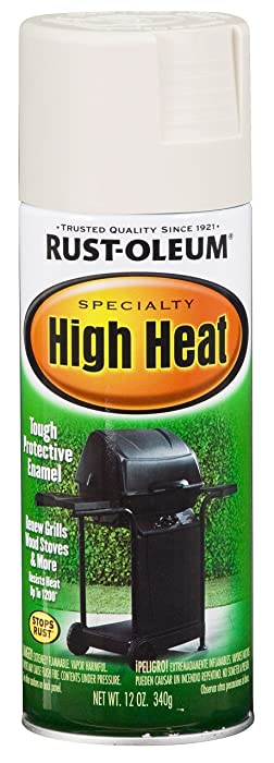 Rust-Oleum 7751830 High Heat Enamel Spray, 12 oz, White