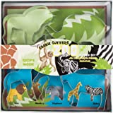 Fox Run 36008 Zoo Animal Cookie Cutter Set, Tin-Plated Steel, 5-Piece