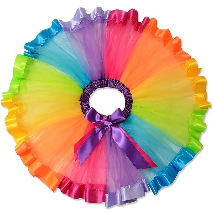 4d72709fb Perfashion - Gonna a balze da bambina ad arcobaleno