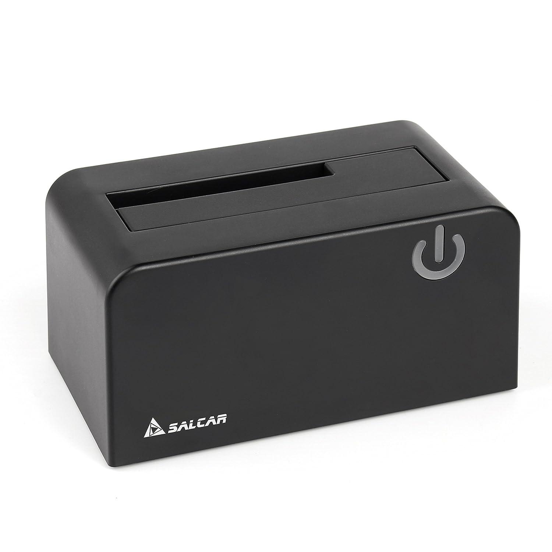 Base de Conexió n SATA Docking Station Salcar USB 3.0 libre de herramientas, hecho de plá stico ABS de alta durabilidad, para discos duros SATA HDD (SATA I / II / III) de 2.5 pulgadas y 3.5 pulgadas, UASP