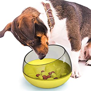 Lifeunion Dog Slower Feeder Bowl Spill-Proof Pet Tumbler Bowel to Slow Down Eating Interactive Puzzle Bloat Food Bowls for Dogs Cats