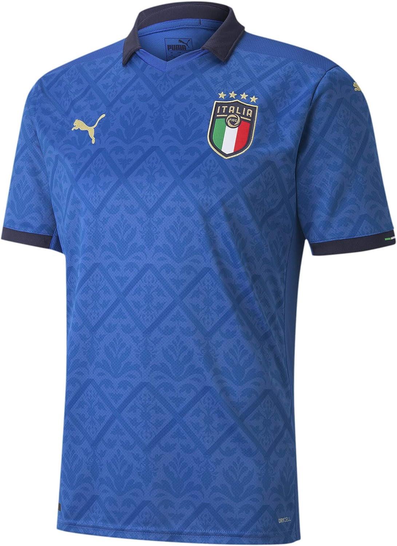 PUMA 2020-2021 Italy Home Football Soccer T-Shirt Jersey