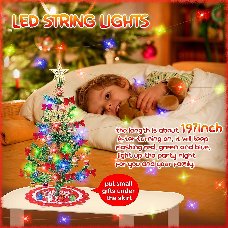 4 Piece Mini Christmas Tree Farm Garden Decoration Set #24L350