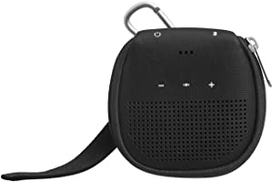 AmazonBasics Case with Kickstand for Bose SoundLink Micro Bluetooth Speaker - Black