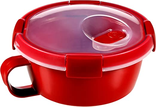 Curver - hermético Smart Micro Sopa 0,6L. Redondo - Con Asa - Apto ...