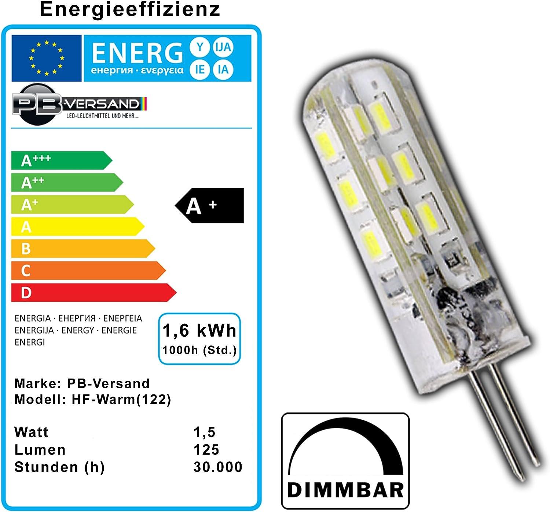 warmweiß 160lm 12V AC//DC 2W mini G-4 Leuchtmittel G4 Led Stiftsockellampe EEK:A