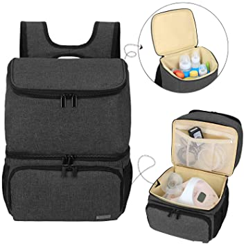 Gray Medela And Cooler Bag Teamoy Breast Pump Bag Compatible With