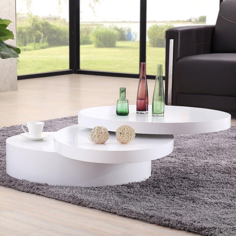 Amazon Uenjoy Rotating Coffee Table Living Room Furniture