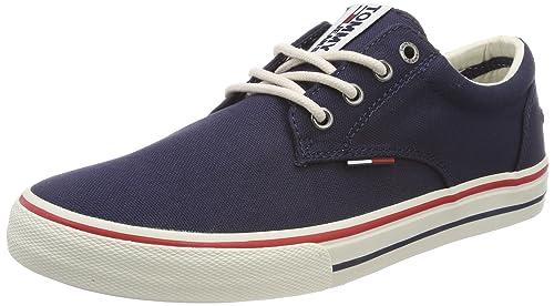 Hilfiger Denim Tommy Jeans Textile Slip On, Zapatillas para Hombre, Blanco (White 100), 41 EU