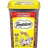 TEMPTATIONS Cat Treats, Tasty Chicken Flavour, 454g Tub