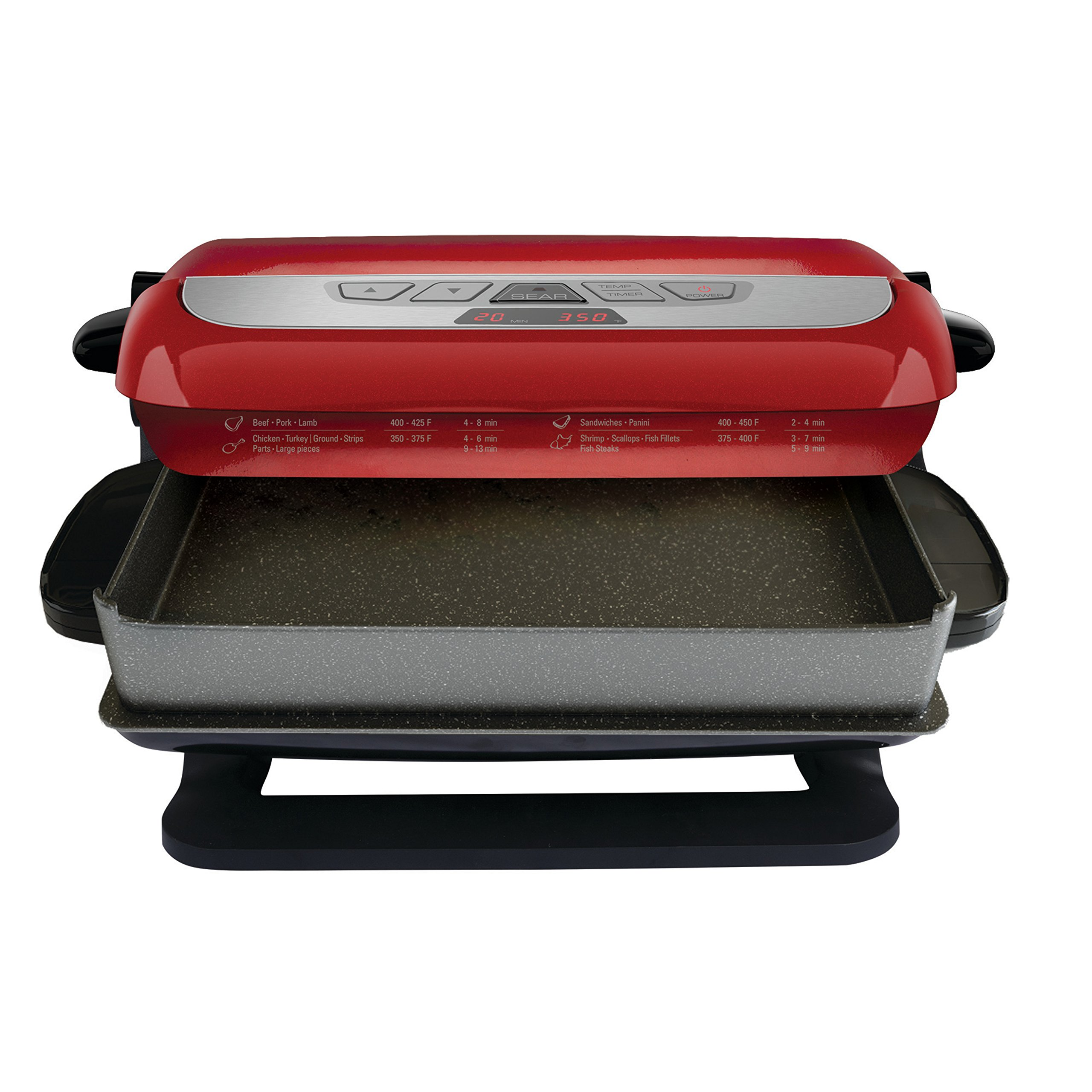 George Foreman 5-Serving Multi-Plate Evolve Grill System with Ceramic Plates, Deep Dish Bake Pan and Muffin Pan, Red, GRP4800R by George Foreman (Image #8)