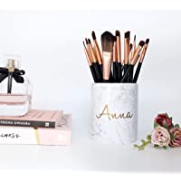 Personalised Makeup Organiser Brush Holder birthday gift rose gold desk accessories cosmetic pots