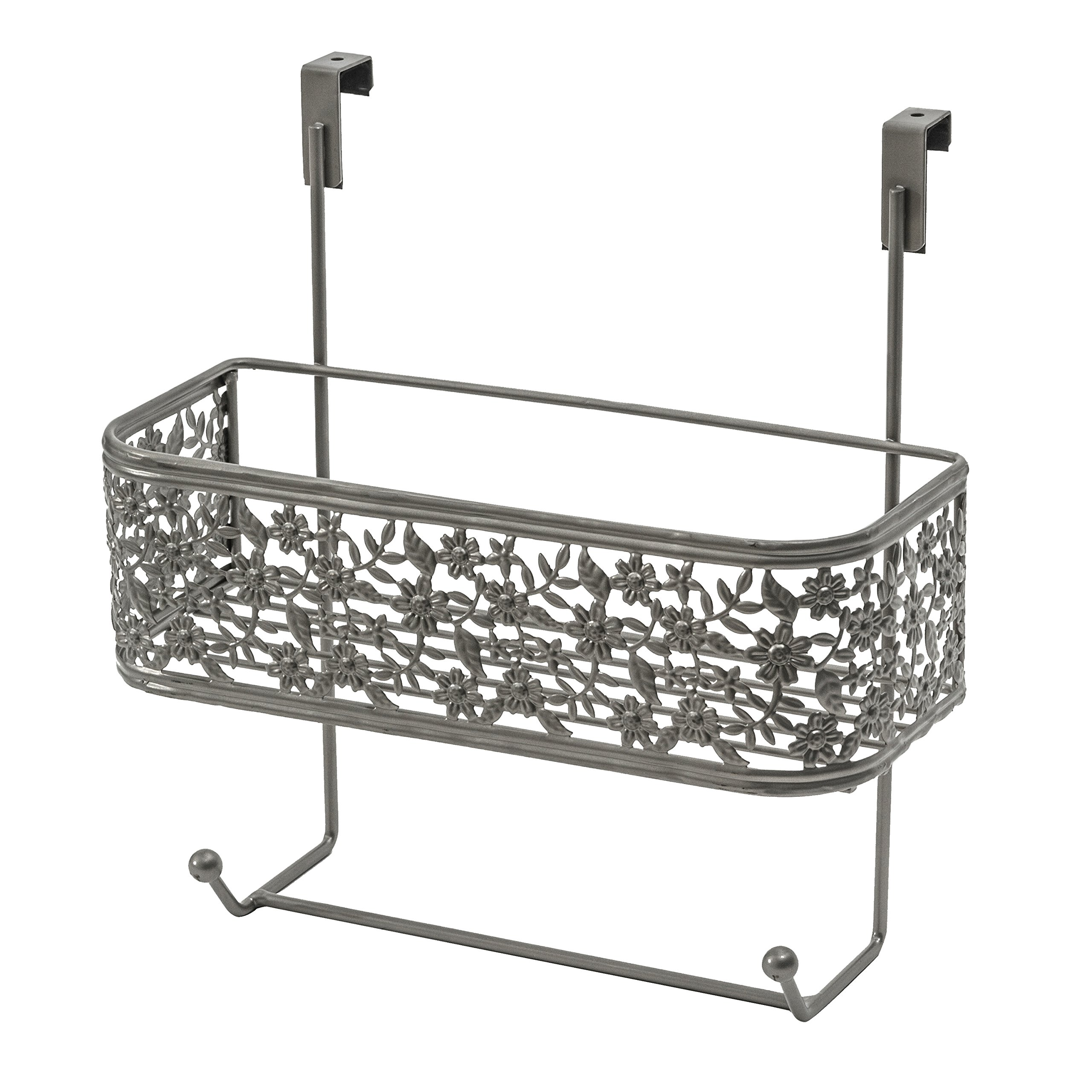 Splash Home 19KIMSS/2HSATSPL Kim Over The Cabinet Door Basket, 11.5 x 5 x 12, Satin Nickel by Splash Home