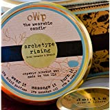 THE WEARABLE CANDLE Handmade Organic Coconut Wax Candle -Archetype Rising (Peony, Cucumber & Firewood) - 25 Tin