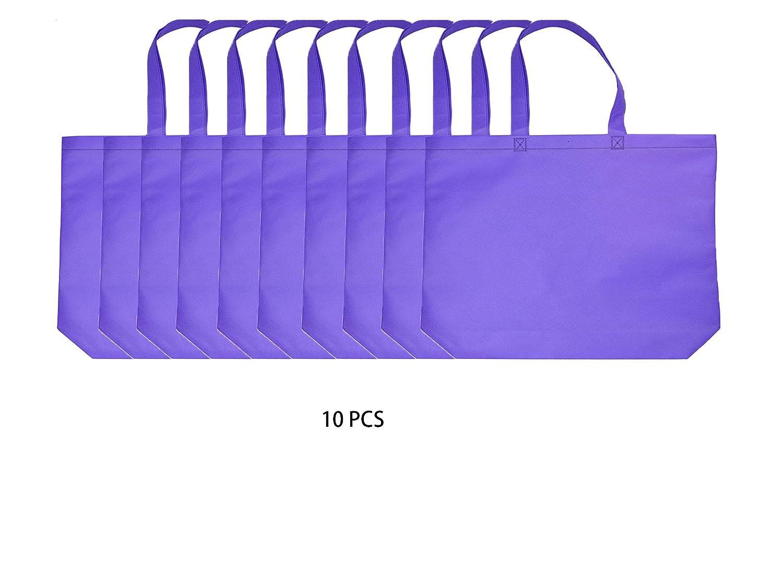 超格安一点 再利用可能なショッピングbags|不織布PP パープル B076TX1HG3 | sqare| Eco friendly| Conventional bags| Large sqare| B076TX1HG3 パープル パープル|10, シャリキムラ:75bdc6aa --- martinemoeykens.com
