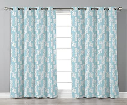 Light Blue Curtains Living Room.Amazon Com Stylish Window Curtains Light Blue Wall With