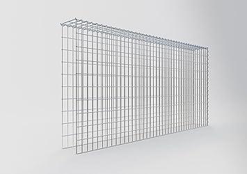 Maschenweite 5 x 10 cm ANBAU-GABIONE Typ2 Steinkorb 100 x 80 x 40 cm Gabionen