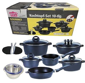 Kochtopf-Set 10-tlg Gourmet inkl. Edelstahl Schüssel 16cm Topf ...