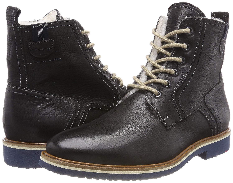 LLOYD Herrenschuh FEDAN, lammfellgefütterter Gore-Tex-Stiefel Schwarz aus Leder mit Gummisohle Schwarz Gore-Tex-Stiefel (Schwarz 0) 0ee65f