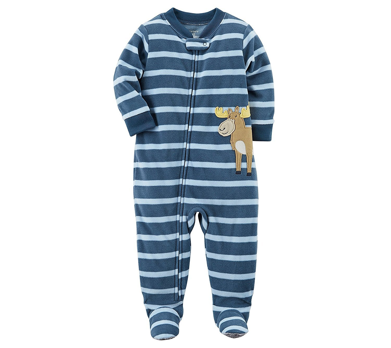 64c3a7566333 Galleon - Carter s Baby Boys  One Piece Moose Fleece Pajamas 6 Months