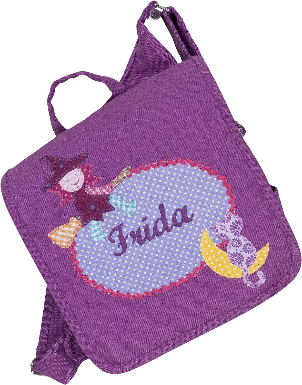 crepes suzette Kindergartentasche, Kindergartenrucksack, Tasche mit Namen, Kindergartentasche mit Namen, Namenstasche, Kinderrucksack, Kindergartentasche mit Hexe