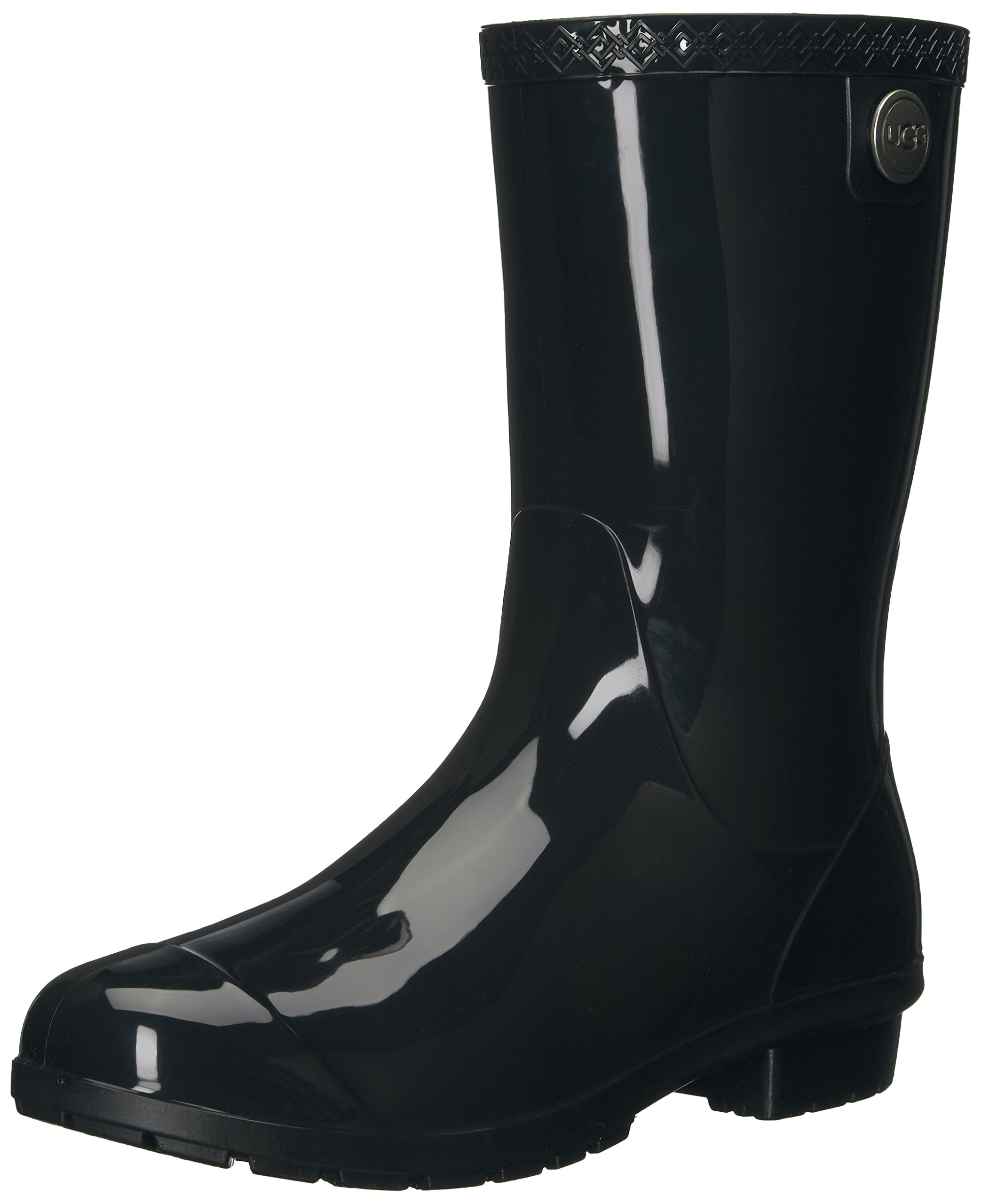 UGG Women's Sienna Rain Boot, Black, 7 B US