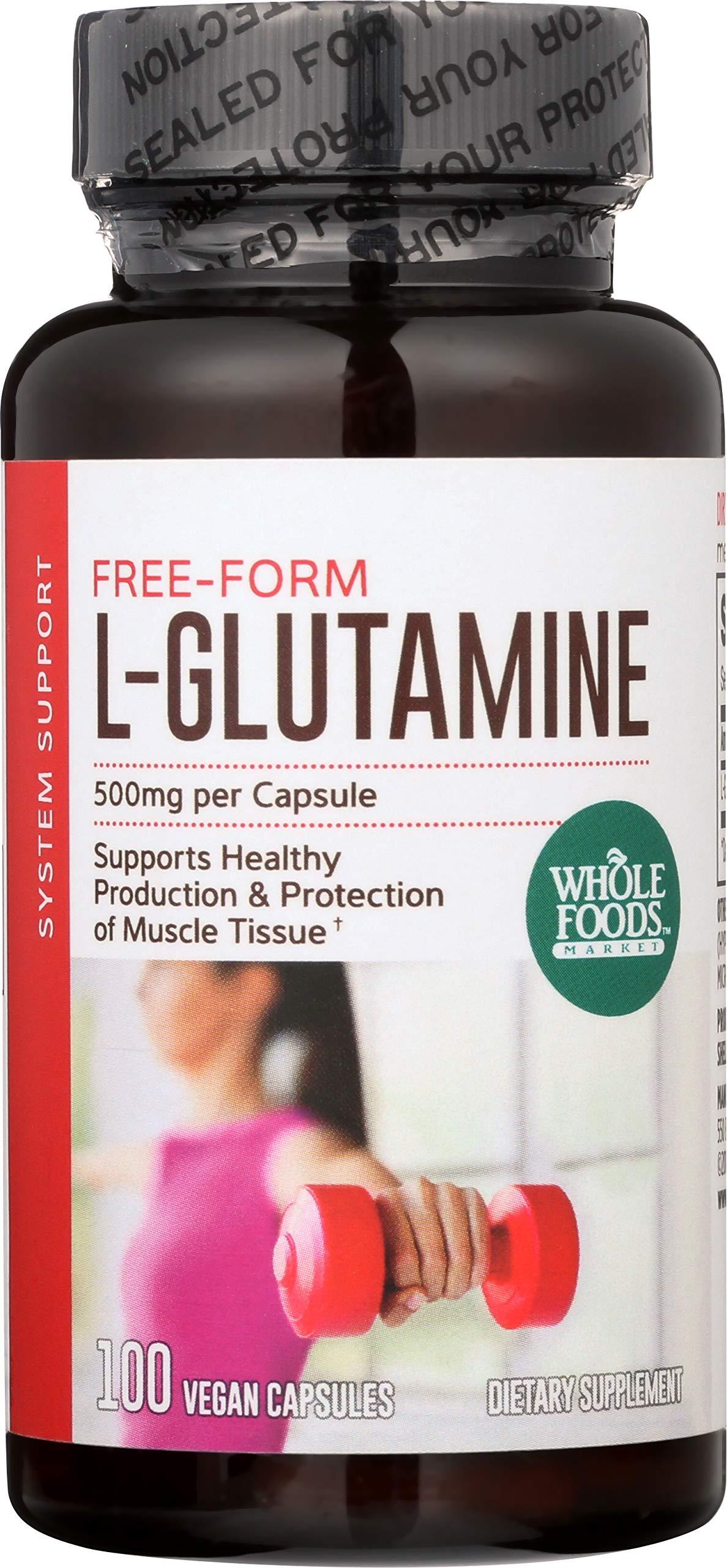 Whole Foods Market, L-Glutamine 500mg, 100 ct