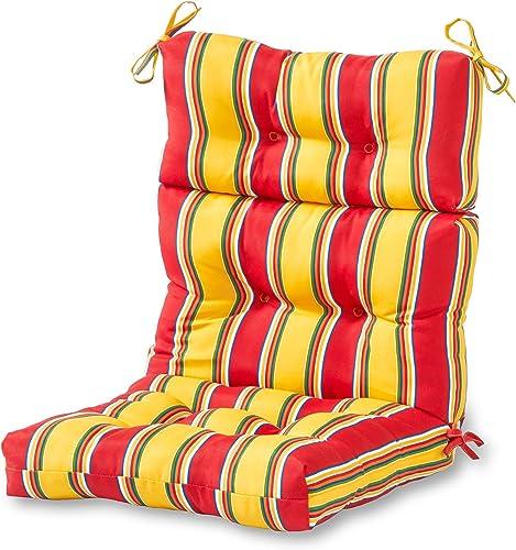 Cheap Greendale Home Fashions AZ4809-CARNIVAL Fiesta Stripe 44'' x 22'' Outdoor Seat/Back Chair Cushion outdoor chair cushion for sale