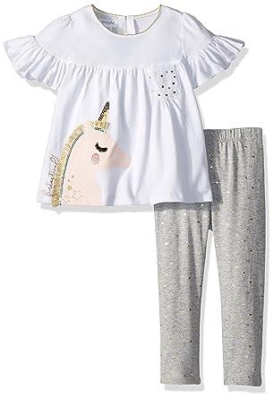77e23f8f099b Amazon.com  Mud Pie Baby Girls Unicorn Tunic and Legging Two Piece Playwear  Set  Clothing
