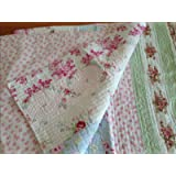 Vintage Shabby Chic Pillow Shams : Amazon.com: Shabby Patchwork Vintage Pink Rose Chic Quilted Pillow Sham KING: Home & Kitchen