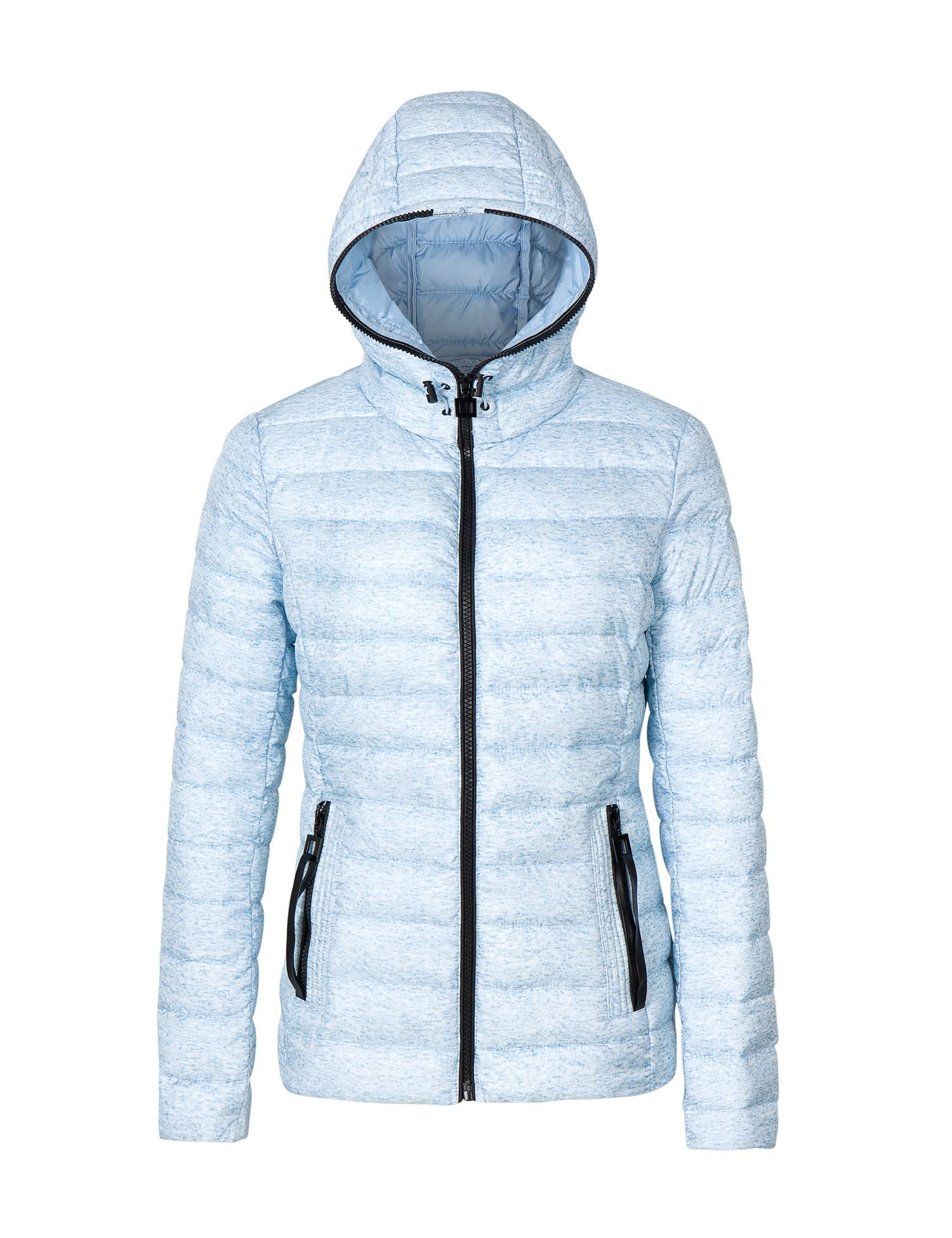 Bellivera Women's Quilted Lightweight Padding Hooded Jacket, Puffer Coat Cotton Filling Water Resistant for Fall and Winter by Bellivera