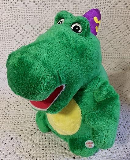 e44f4bcd096 Amazon.com  Baby Genius Rare Green Dragon DJ Dinosaur Plush Birthday ...