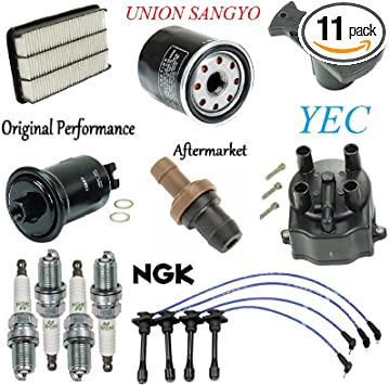 Tune Up KIT Fuel Filter Cap Rotor Spark Plug Wire Set FIT Toyota Previa 1991-1997