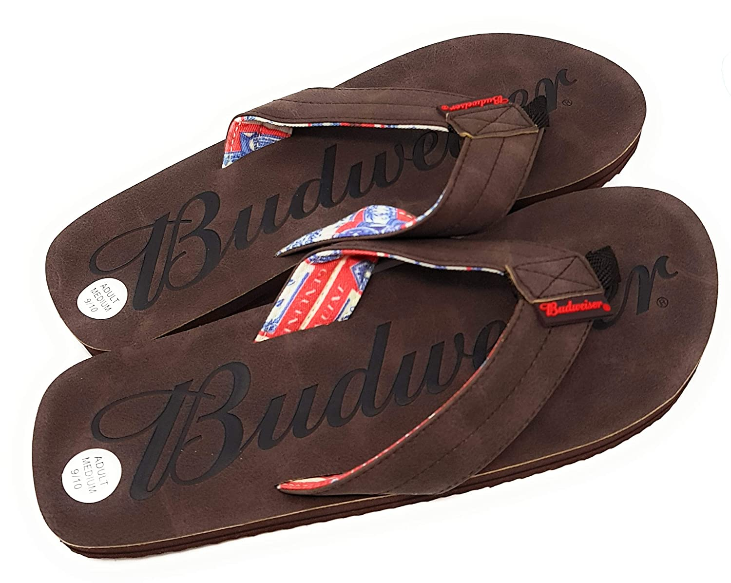 Budweiser Beer Mens Thong Sandals