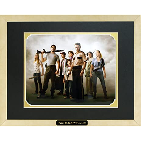 Amazon The Walking Dead Cast Framed Photo In A Custom Made