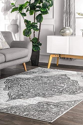 nuLOOM Jeannette Floral Area Rug, 4 x 6 , Grey