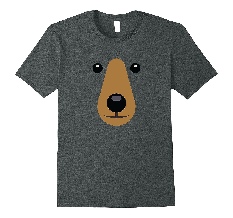 Bear Face Cute T shirt Easy Halloween Costume Kids Adults-Art