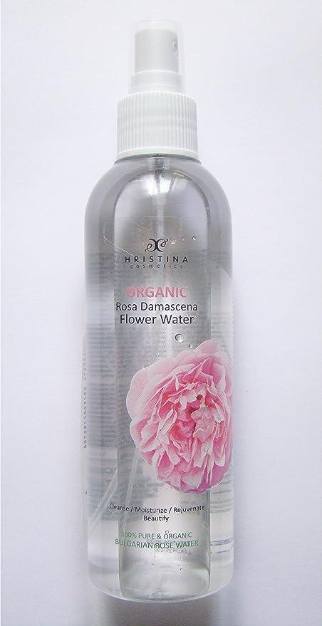 Agua de rosa natural con certificado orgánico de Bulgaria – Tónico facial de la piel,