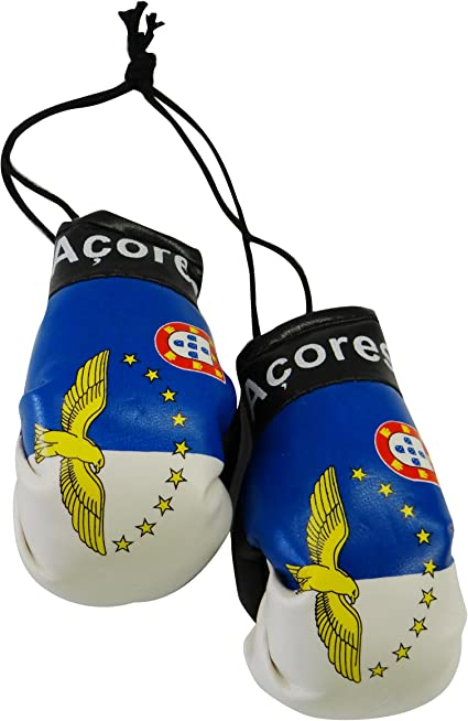 Flag Mini Small Boxing Gloves to Hang Over Car Automobile Mirror Europe