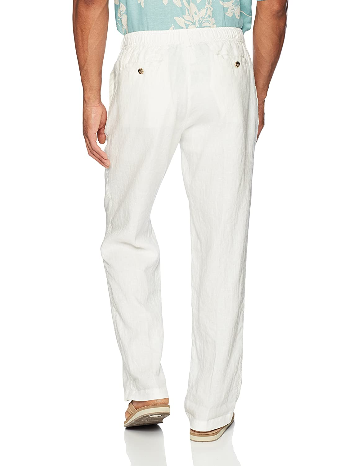 Brand 28 Palms Mens Relaxed-Fit Linen Pant with Drawstring MPM60000