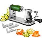 Mitbak Stainless Steel Vegetable Spiralizer Slicer | Industrial-Grade 3-Blade Zoodle Maker | Restaurant-Quality Spiral…
