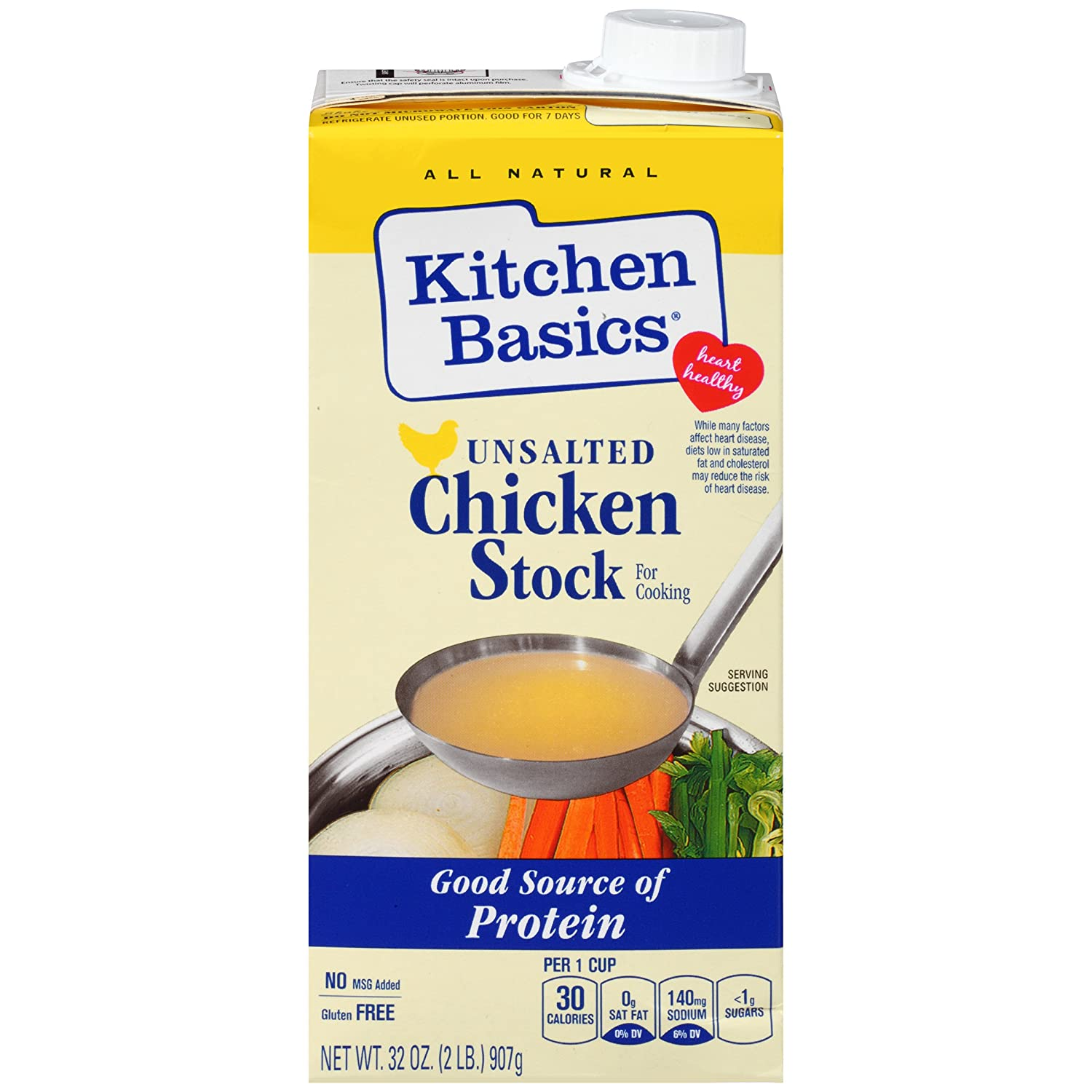 Amazon.com : Kitchen Basics Chicken Cooking Stock, 32 oz : Vegetable ...