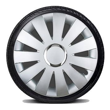 DAMU | Hub caps Hubcap Universal Cover Wheel Trim Set of 4 Silver 14/15/16 Inch 14 Inch: Amazon.co.uk: Car & Motorbike