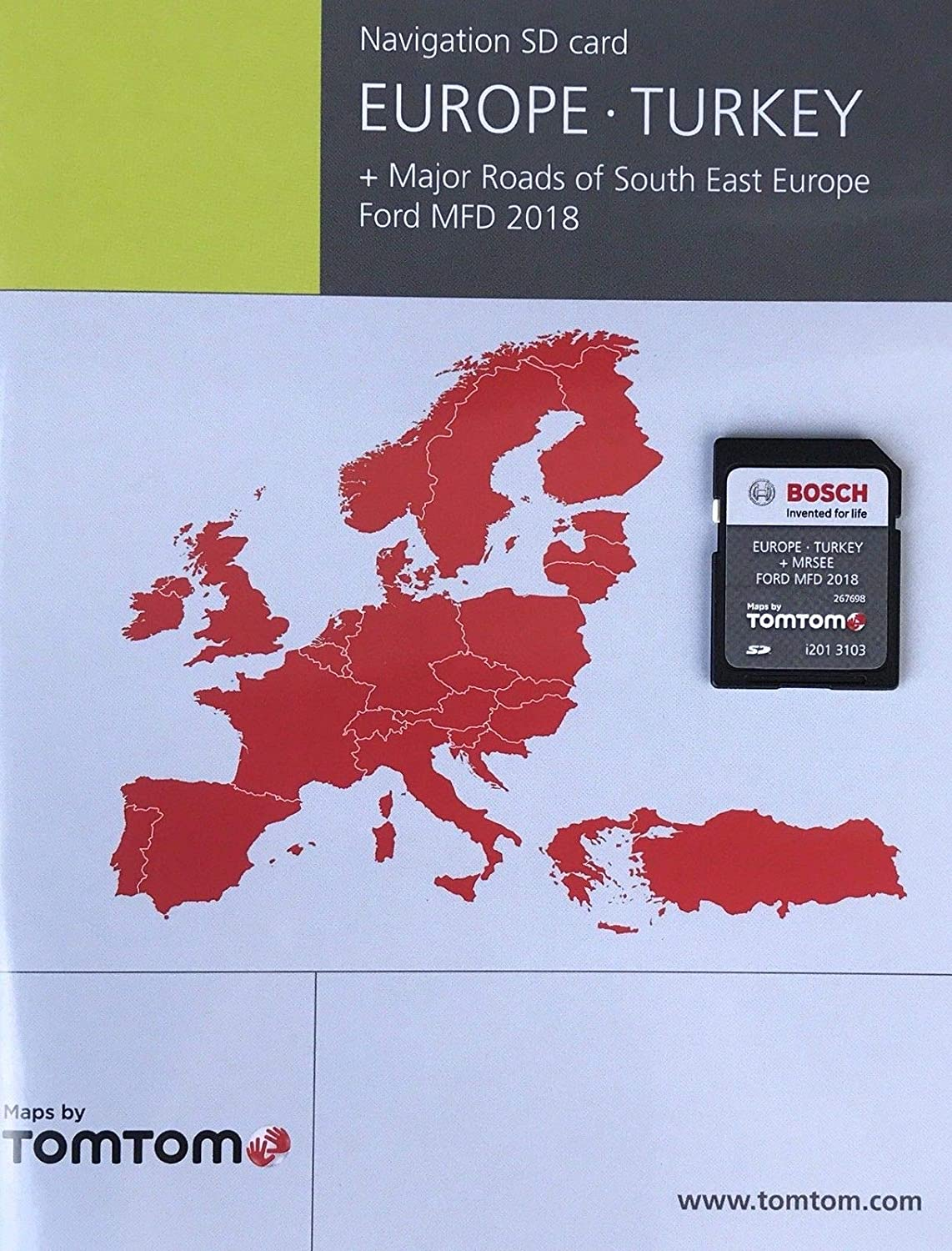 Ford MFD NAVIGATION SD Card MAP Western Europe 2018-2019