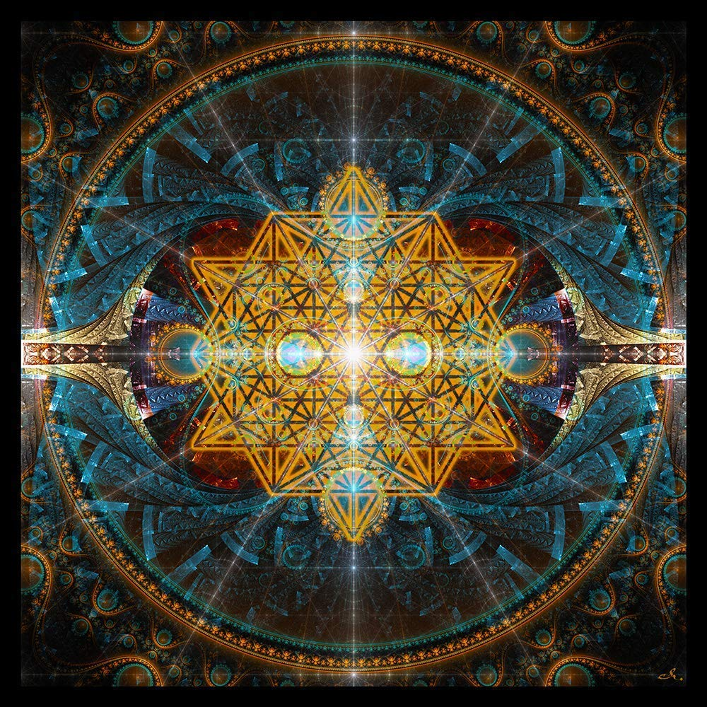 Amazon.com: Sacred Geometry Tapestry | Wall Art | Flower of Life ...